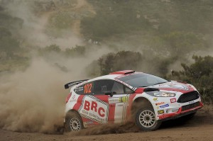 Giandomenico Basso, Lorenzo Granai (Ford Fiesta R5 LDI, #102) Movisport;