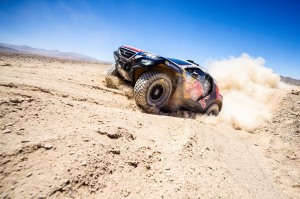 Stephane Peterhansel  races during the 5th stage of Rally Dakar 2015 from  Copiapo to Antofagasta, Chile on January 9th, 2015