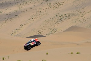 182 DESPRES CYRIL - CASTERA DAVID - FRA - PEUGEOT 2008 DKR during the 2015 China Silk Road rally, stage 5, from E Ji Na Qi to Axla Zochi  on september 3rd 2015, China. Photo Eric Vargiolu / DPPI