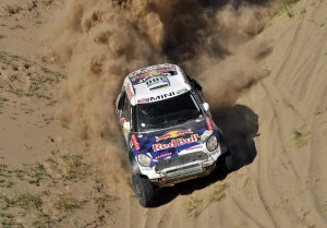 300 AL-ATTIYAH Nasser (qat) BAUMEL Matthieu (fra) MINI action during the Dakar 2016 Argentina,  Bolivia, Etape 9 / Stage 9, Belen - Belen,  from  January 12, 2016 - Photo DPPI