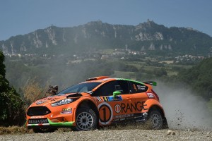 Simone Campedelli, Danilo Fappani (Ford Fiesta GPL R R5 #4, Orange 1 Racing)