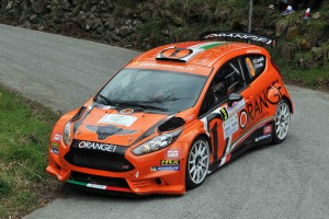 Simone Campedelli, Pietro Elia Ometto (Ford Fiesta R5 #3, Orange1 Racing);